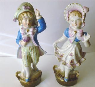 Vintage China Figurines - Pair Boy & Girl - Lovely photo