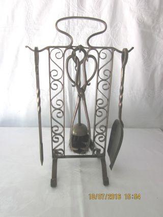 Attractive,  Decorative Arts & Crafts Period Fire Companion/accessory - 1930 ' S photo