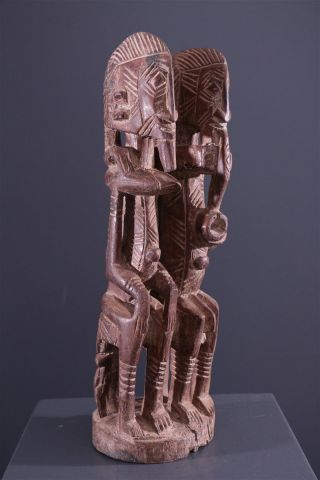 Mali: Tribal African Dogon Couple Statue. photo