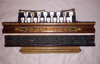 Antique Early 19th C.  Flutina Accordion Circa 1830 photo