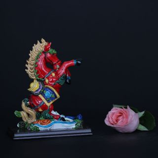 Chinese Cloisonne Porcelain Handwork Horse Statue Csy963 photo