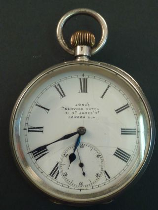 Omega Silver Pocket Watch photo