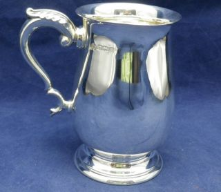 Vintage Solid Silver Baluster Half Pint Tankard Mug B ' Ham 1969 Elkington 206 Grs photo