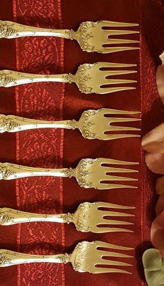 1847 Rogers Bro Vintage Grape Pattern (1904) Salad Forks 5 7/8
