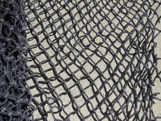 7 Feet X 10 Feet Heavy Black Alaskan Seine Net Fishing Fish Netting (n325) photo