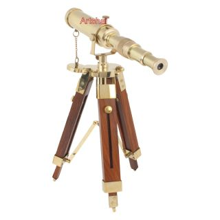 Artshai Small Size Nautical And Vintage Decor Telescope With Tripod Stand photo