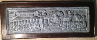 Museum Replica Bas - Relief Stone Carving From Buddhist Temple Java 26