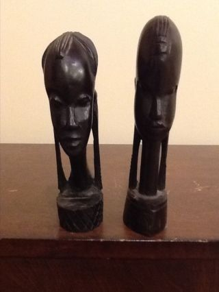 Two African Wooden Statues photo