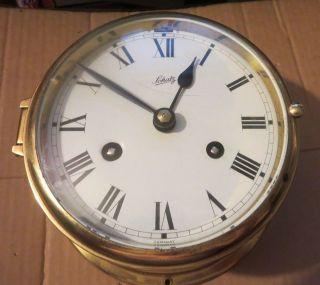 Vintage Schatz Germany Brass Marine Ship Bell Clock 6