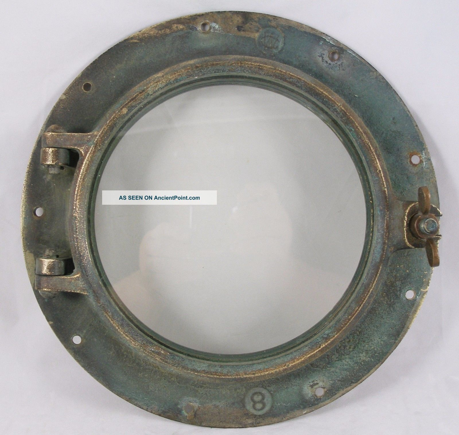 Antique Bronze Porthole,  Salvaged Porthole Nautical Wc 8 Porthole Portholes photo
