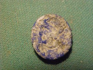 Sassanian Intaglio Of Lapis Lazuli (male Bust) 224 - 642 Ad photo