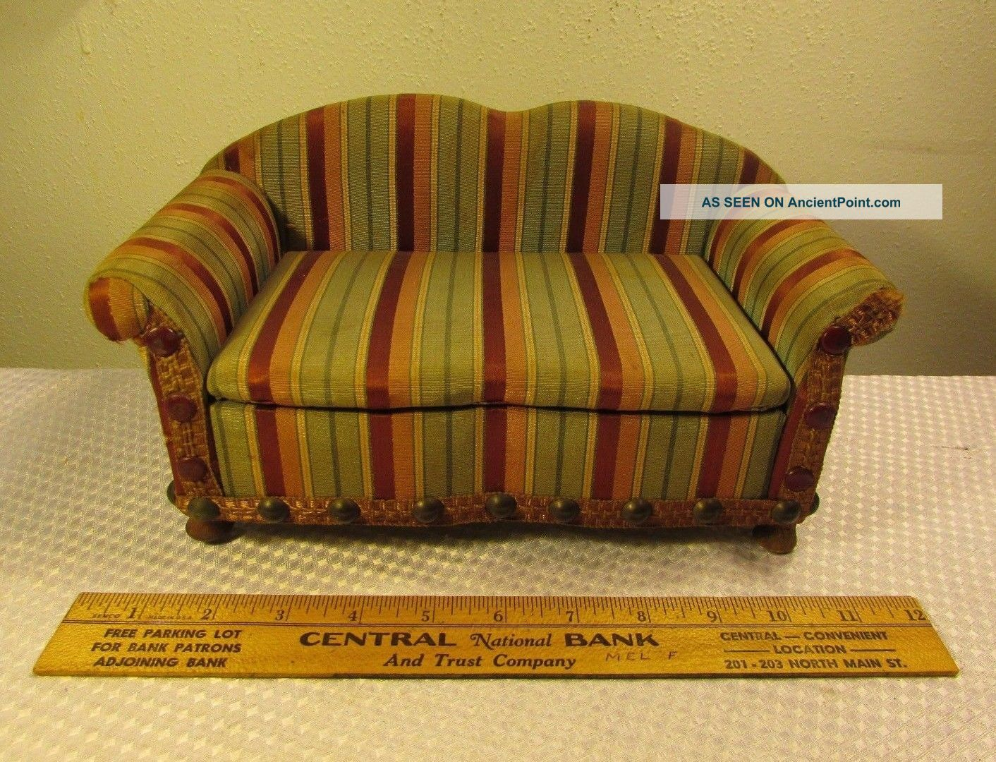Vtg Antique 1920 ' S Salesman Sample Couch Sofa National Chair Company Very Rare 1900-1950 photo