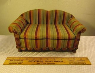 Vtg Antique 1920 ' S Salesman Sample Couch Sofa National Chair Company Very Rare photo