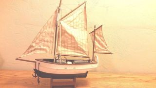 Historical Replica Spray Boston Ship Model Sailboat Yawl Sloop W Base photo