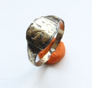 Antique Bronze Finger Ring With Image (jjj02) photo