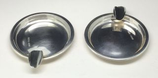 Solid Silver Ashtrays Cased Hallmarked Sheffield 1937 Gladwin Ltd photo