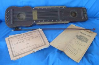 Vintage 1922 Hawaiian Art Violin W/bow And Instructions By P.  F.  Richter photo