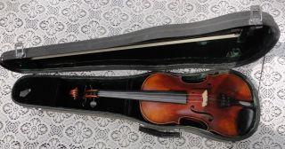German Violin,  Eugen Meinel Markneukirchen Germany 1920s - 30s Estate Item photo