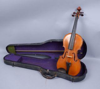 Vintage Estate Found 1921 Germany Wilhelm Durer Violin W Tubbs Bow photo