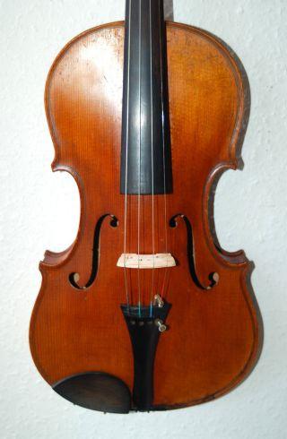 Fine Antique Fullsize 4/4 Master Violin - 4 Corner Blocks photo