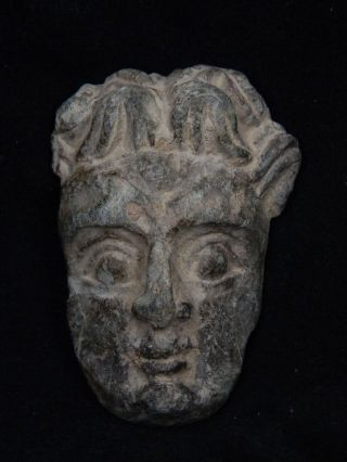Ancient Schist Stone Atlas Face Gandharan/gandhara 100 Ad Stn15003 photo