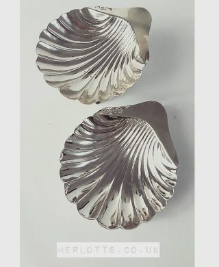 Atkin Brothers,  Hallmarked Silver Shell Dishes,  Sheffield,  1907 photo