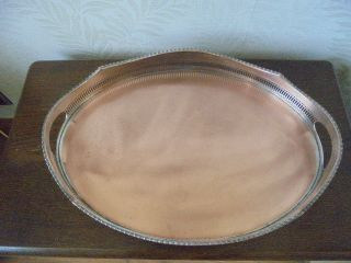 Silver Plated On Copper Gallery Tray photo