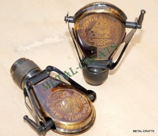 Buy 2 Brass Binocular Handmade Vintage Spyglass Antique Binacular Monocular Gift photo