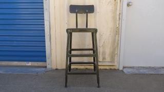 Lyon Vintage Industrial Chair Steampunk Drafting Metal Adjustable Stool Chair photo