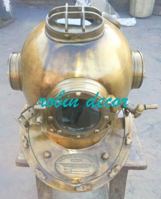 Antique - Scuba - Sca - Divers - Diving - Helmet - Us - Navy - Mark - V - Deep Sea Marine Divers18