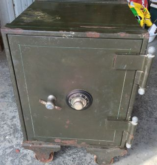 Antique Schwab Safe Company Rolling Floor Safe - Great - Circa 1900 - Htf photo
