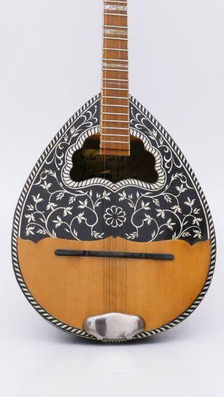 Old Ecorda Vintage Bouzouki 50s Greece No Mandolin Lute Guitar Violin Antique photo