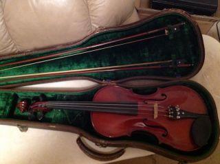 Antique Violin W.  Wilkanowski 1927 Hoyer Bows (2) photo