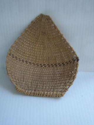 Vintage Antique California Paiute / Washoe Willow / Redbud Seed Winnower Basket photo