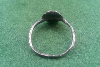 Rare Viking Silver White Metal Ladies Ring 9th - 12th Century Ad photo