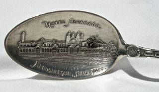 Ca 1900 Albuquerque Mexico Nm Fred Harvey Swastika Pict Hotel Alvarado Spoon photo