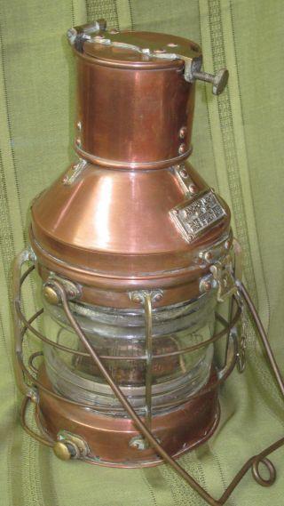 Lantern,  Anchor,  Maritime,  Brass Antique photo