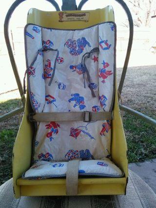 Vintage Baby Seat Infanseat Baby Car Seat Wood 1955 Patent Eldora Ia photo