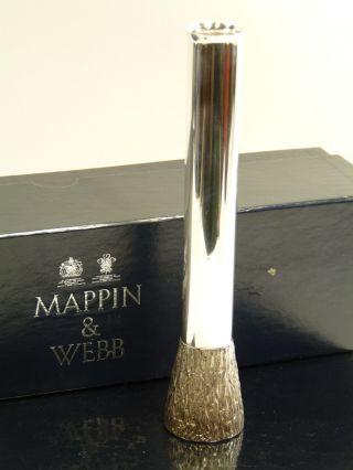 Mappin & Webb Silver Plate - Modern Design Bud Vase - 6