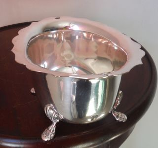 Early 1900s Silver Plated Large Sugar Basin - Paw Footed photo