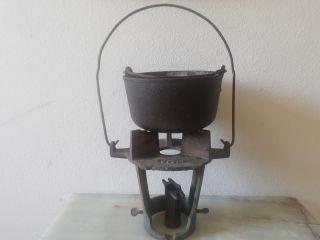 Vintage Cast Iron Stove Smelter Pot Pasco 8,  Gas Burner photo