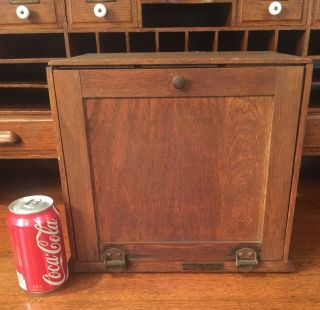 Vintage Oak Display Case With