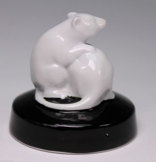 Rare Fraureuth Porcelain Rat Mouse Porcelain Animal Figurine photo
