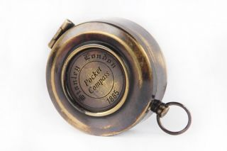 Marine Collectible Antique Brass Vintage Made For Royal Navy Flap Compass Sc 043 photo