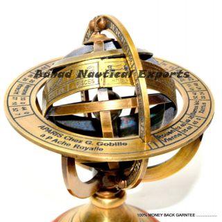 Vintage Antique Style Brass Armillary Nautical Sphere Globe Nautical Sphere photo
