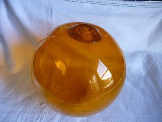 Vtg.  Antique Orange Amber 9