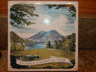Acadia National Park Maine Ceramic Trivet Pot Holder,  Jordan Pond & The Bubbles photo