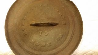 Antique Rome Stove Cast Iron Lid Only Dutch Oven Skillet Bean Pot photo