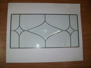 Antique Leaded Clear Glass Panel,  Beveled Design 25