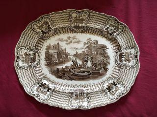 Huge Bologna Platter - Staffordshire,  Transferware photo